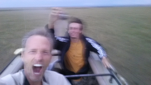 Brady and I loved speeding through the Masai Mara in our Land Rover!