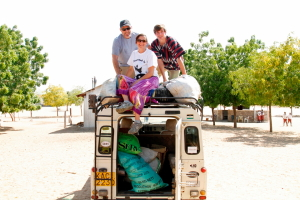 load the Land Rover at House of Hope for food distribution in villages