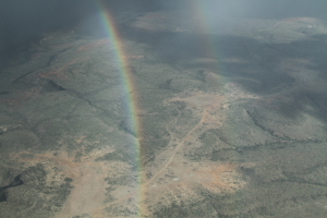 Our final day included a beautiful safari.  We flew through a double rainbow leaving