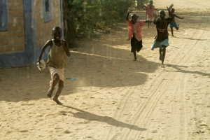 Children in this village repeatedly chased us with joy daily as we traveled through